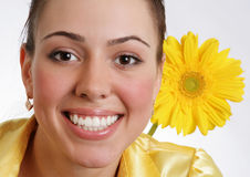Beauty portrait of young attractive woman Royalty Free Stock Photos