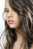 Beauty portrait of a young beautiful teen girl. Stock Photo