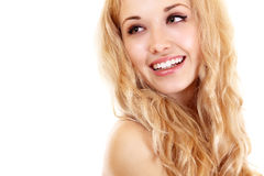 Beauty portrait of young beautiful woman Stock Photography