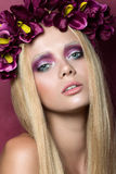 Beauty portrait of young blonde woman Royalty Free Stock Image