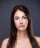 Beauty portrait. Of a young brunette Stock Photo