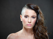 Beauty portrait. Of a young brunette Royalty Free Stock Photo