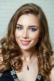 Beauty portrait of young brunette woman Royalty Free Stock Photography