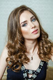 Beauty portrait of young brunette woman Royalty Free Stock Image