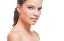 Beauty portrait, young brunette. Stock Photography