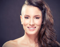 Beautiful  young girl with braces. Beauty portrait of a young girl with braces Royalty Free Stock Photo