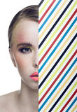 Beauty Portrait of Young Pretty Blonde Woman Royalty Free Stock Images