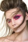 Beauty portrait of young pretty girl with fashion make-up Stock Image