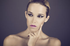 Beauty portrait of young sexy woman Royalty Free Stock Image