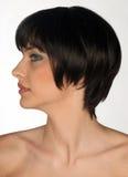 Beauty portrait of young woman. Beauty profile portrait of young woman Royalty Free Stock Image