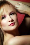 Beauty portrait of a young woman royalty free stock image