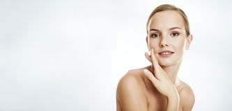 Beauty portrait of a young woman. Royalty Free Stock Photo