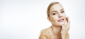 Beauty portrait of a young woman. Stock Photos