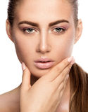 Beauty portrait of young woman. Stock Photos