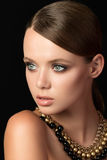 Beauty portrait of young woman Stock Photo