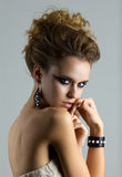 Beauty portrait of young woman Royalty Free Stock Photos