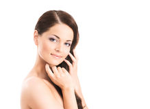 Beauty portrait of a young woman in makeup Stock Photography