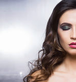 Beauty portrait of a young woman in makeup Royalty Free Stock Image