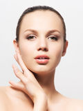 Beauty portrait of a young woman in makeup Royalty Free Stock Photos