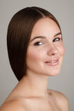 Beauty portrait of young woman with natural makeup Royalty Free Stock Photo