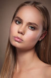 Beauty portrait of young  woman. Royalty Free Stock Photos