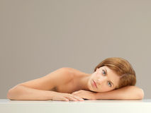 Beauty portrait of young woman relaxing Stock Photography