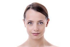 Beauty portrait of young woman Stock Photos