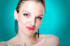 Beauty portrait young woman Royalty Free Stock Images