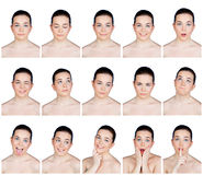 Beauty portraits collection Stock Images