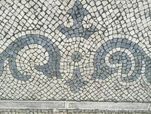 Portuguese Sidewalk. The beauty of the Portuguese sidewalk & x28;calçada& x29; with its beautiful patterns mozaic Royalty Free Stock Photography