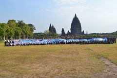 The beauty of prambanan temple. Rich in legend of manufacture only 1 night only Stock Photo