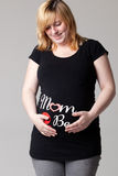 Beauty pregnant woman. Happy young pregnant woman in the studio Royalty Free Stock Photo