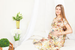 Beauty Pregnant Woman Royalty Free Stock Image