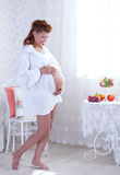 Beauty pregnant woman Royalty Free Stock Photos