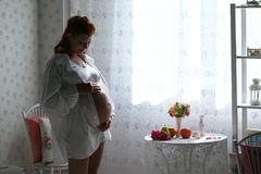 Beauty pregnant woman Stock Photography