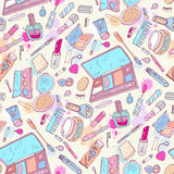 Beauty products. Cosmetics. Stock Images