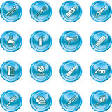 Beauty products icon set Royalty Free Stock Photography
