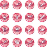 Beauty products icon set Royalty Free Stock Image