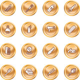 Beauty products icon set Royalty Free Stock Photo