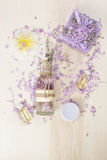 Beauty products with Lavender Stock Photos