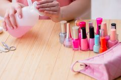 The beauty products nail care tools pedicure closeup