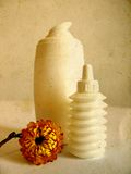Beauty products -sepia. Skin care still life in sepia tone royalty free stock image