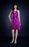 Beauty in purple dress Stock Photo