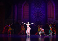 """The beauty queen- ballet """"One Thousand and One Nights"""" Royalty Free Stock Photo"""