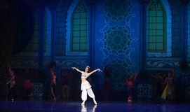 """The beauty of the queen- ballet """"One Thousand and One Nights"""" Royalty Free Stock Photography"""