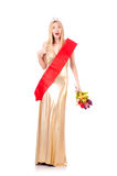 Beauty queen at contest Royalty Free Stock Photos
