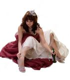 Beauty Queen After The Party. Beauty or prom queen getting drunk and sloppy after the show Stock Photos