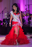 Beauty Queen on stage Royalty Free Stock Photo