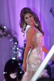 Beauty Queen on stage Stock Images