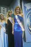 Beauty Queens on Float in American Bicentennial Parade, Philadelphia, Pennsylvania Stock Photography